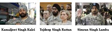 In 2010, Sikh Americans Kamaljeet Singh Kalsi, Tejdeep Singh Rattan and Simran Singh Lamba each were granted special waivers to serve in the US military with their articles of faith.