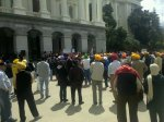 The gathering at the steps of the California State capitol building, for American Sikh Day