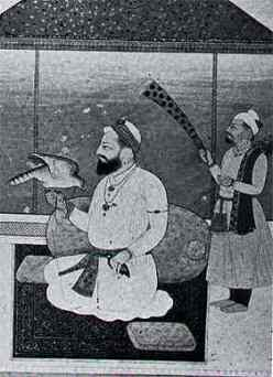 """Guru Hargobind - a painting from the Lahore Museum (courtsey F.Aijazzudin)"" (source: sikh-heritage.co.uk)"