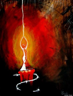 Artwork depicting a candle for freedom (source: Huffington Post)