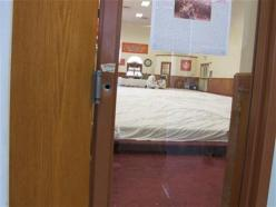 Bullet hole from the shooting attack at Oak Creek, Wisconsin Gurdwara, preserved as a memorial (source: AP)