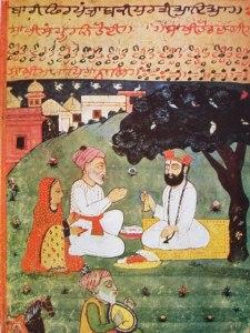 Painting of Guru Nanak with his parents, c. 1733