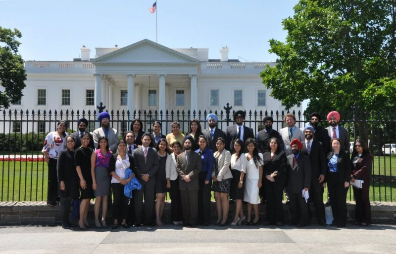 Sikhs at the White House this past June after a first-ever briefing for Sikhs at the White House on Sikh American concerns.