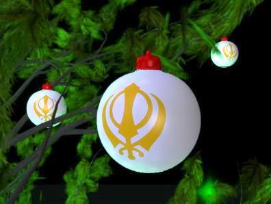 Khanda Christmas ornaments