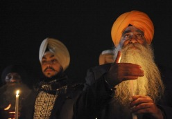 """A group of Sikh men were among those came to Newtown to attend an interfaith service at Newtown High School on December 16, 2012 which was also attended by President Barack Obama. The service was held two days after gunman Ryan Lanza walked into Sandy Hook Elementary School in Newtown, Conn. and opened fire killing 20 children and several adults on December 14, 2012."" (source: CNN)"