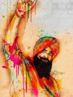 Painting of Bhai Balwant Singh Rajoana by Inkquisitive.