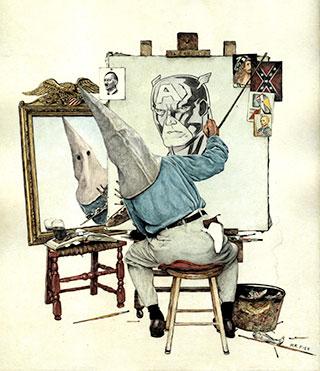 White hate self portrait (source: Mr. Fish/truthdig)