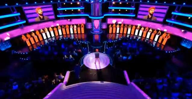 "A turban-wearing and bearded Sikh on the UK dating show ""Take Me Out"" (source: YouTube)"