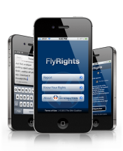 FlyRights screen on a smartphone (source: Sikh Coalition)