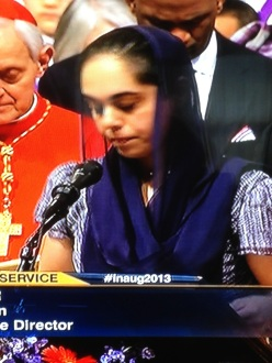 Sapreet Kaur, Executive Director of the Sikh Coalition, became the first Sikh to offer prayer at an Inaugural Prayer Service. (source: The Sikh Coalition)