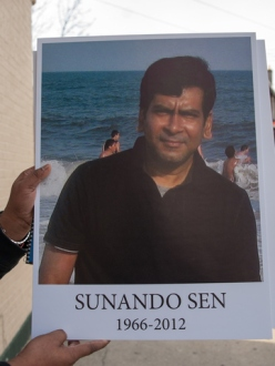 Sunando Sen was shoved to his death on a number 7 train platform in Queens on Thursday December 27th, 2012. He was Cremated on Monday December 31st, 2012. (Photo credit: DNAinfo/Theodore Parisienne)