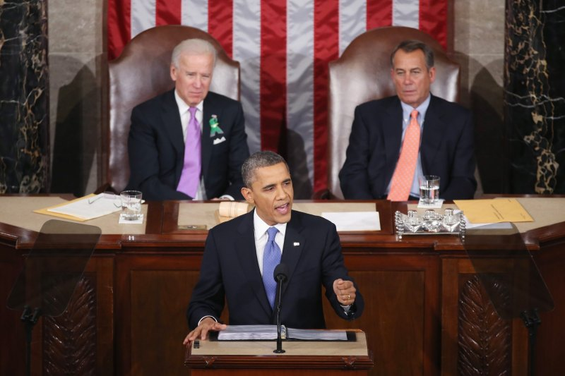 President Barack Obama delivers his 2013 State of the Union address on February 12. (source: Muck Rack)