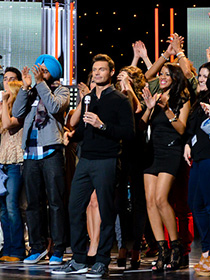 American Idol's Top 40 contestants celebrate. (source: American Idol)