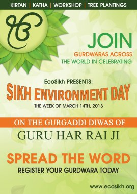 Sikh Environment Day poster (source: EcoSikh)