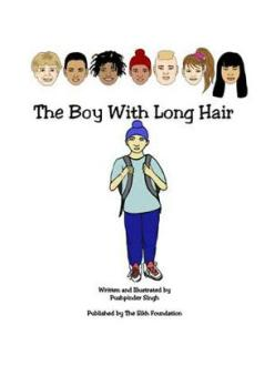 The Boy With Long Hair, by Pushpinder Kaur, is a coloring book published by the Sikh Foundation. (source: The Sikh Foundation)