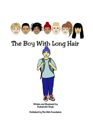 The Boy With Long Hair, by Pushpinder Singh, is a coloring book published by the Sikh Foundation. (source: The Sikh Foundation)