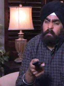 Guru Singh appears during a skit on Jimmy Kimmel Live! on February 26, 2013.