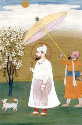 Watercolor painting of Guru Har Rai. (source: Art of Legend India)