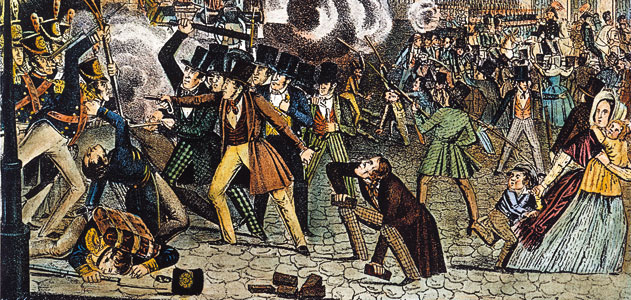 Philadelphia's Bible Riots of 1844 reflected a strain of anti-Catholic bias and hostility that coursed through 19th-century America. (Granger Collection, New York. Source: Smithsonian)