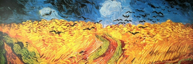"""Wheatfield with Crows"" by Vincent Van Gogh, 1890. (source: Wikipedia)"