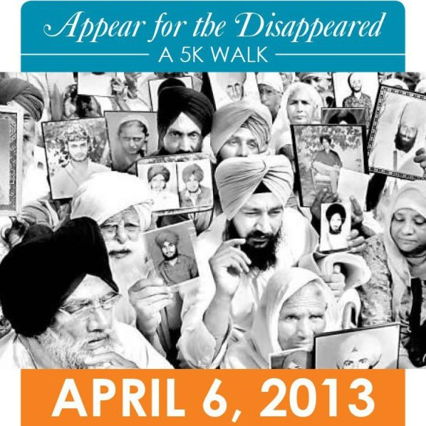 Appear for the Disappeared 5K Walk -- April 6, 2013. (source: Ensaaf Facebook page)