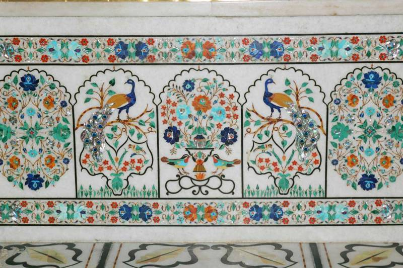 "Inlaid artwork in marble at Harmandir Sahib (""the Golden Temple"") in Amritsar, India. (source: GoldenTempleAmritsar.org)"