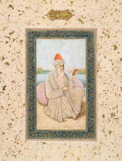Guru Nanak portrait c. 1770 (source: The Sikh Foundation)