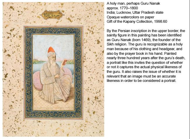 """A holy man, perhaps Guru Nanak, approx. 1770-1800."" (source: The Sikh Foundation)"