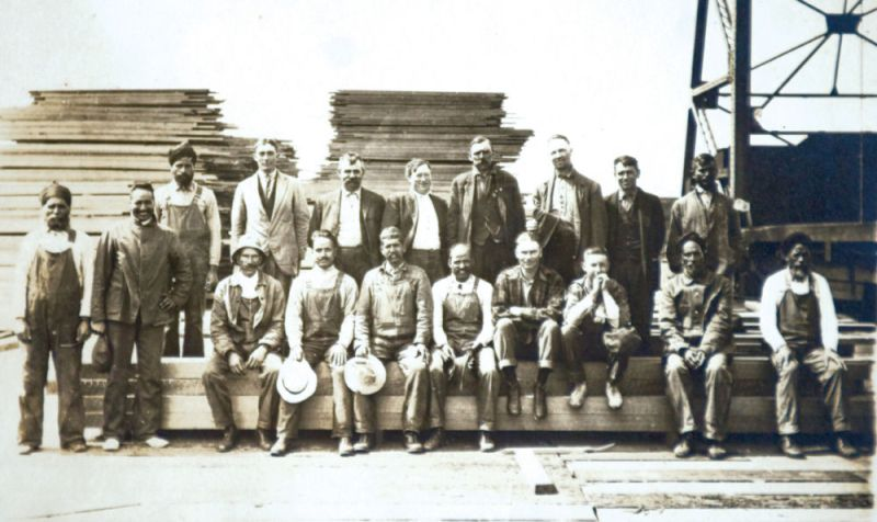 """Indians, many of whom were Sikh, worked at the Hammond Mill before its demise in 1922. During that time period, the Indians left their mark on Astoria, participating in wrestling matches, occupying Alderbrook also known as ""Hindu Alley,"" and forming the Ghadar political party. Courtesy of Clatsop County Historical Society."" (source: The Daily Astorian)"
