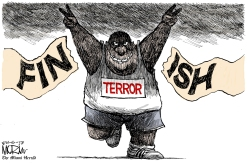 Boston bombing editorial cartoon. (source: Denver Post)
