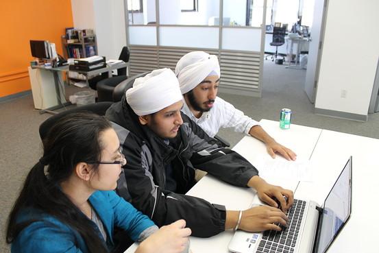 """Kirty Singh, Gurwinder Singh, Namit Satara plan an upcoming trip to Washington D.C. for members of the Sikh Junior Coalition."" (credit: Jo Piazza   The Wall Street Journal)"