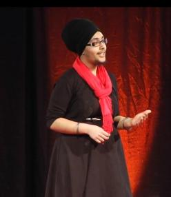Balpreet Kaur at TEDxOhioStateUniversity. (source: YouTube)