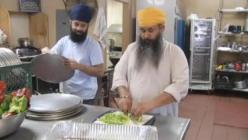 Pizza is prepared by members of Jakara Movement Fresno as part of community outreach in wake of attack on Sikh senior. (source: KSEE)