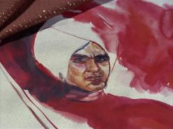 """A watercolor painting of the Star Trek character Khan Noonien Singh that appeared in the original series episode """"Space Seed"""" in 1967. (source: Wikia Expert Showcase)"""