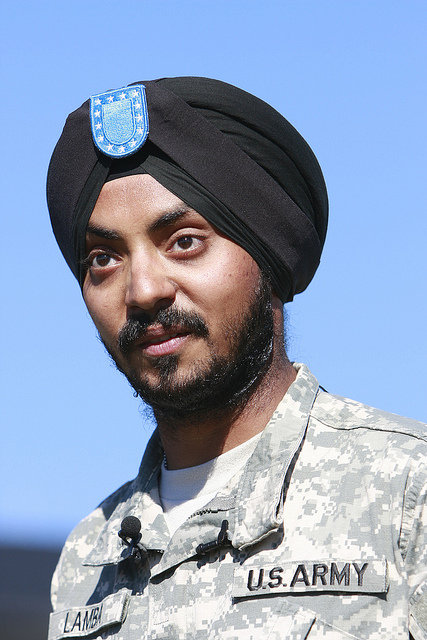 Simran Preet Singh Lamba graduates from U.S. Army Basic Training at Fort Jackson in Columbia, SC. He is the first Sikh enlisted soldier since the 1980s. (source: Sikh Coalition)
