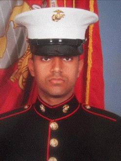 "US Marine Cpl. Gurpreet Singh from Antelope, California, died in combat in Afghanistan in June, 2011. He was posthumously awarded with the Bronze Star with Combat ""V"" for valor last week.(Photo: News10/KXTV)"