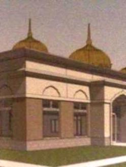 A rendering of the future Gurdwara in Fort Wayne, Indiana. (Photo credit: Lori Way)