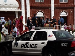 """""""No injuries were reported and no arrests made when unrest between hundreds brewed Sunday afternoon at the Glen Rock [New Jersey] temple. """" (Source: Ridgewood-Glen Rock Patch)"""