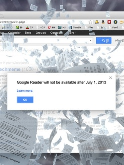 Google Reader is shutting down on July 1. (Source: LifeHacker)