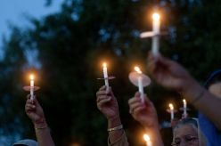 Candlelight vigil in Thomas Township, Michigan, on August 15, 2012, after the mass murder of six Sikhs in Oak Creek, Wisconsin, by a white supremacist ten days earlier. (Source: MLive)