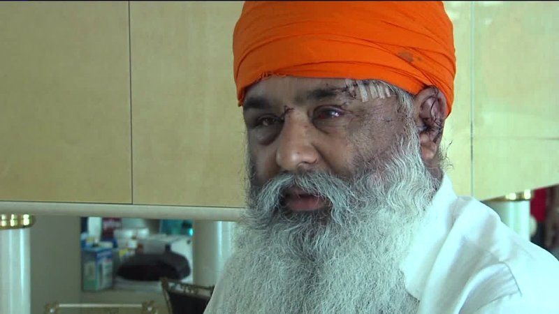 Gulwinder Singh was attacked by another driver after a minor vehicle accident in Manteca, California, on Tuesday, July 2. (Photo: KTXL/Fox40)