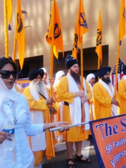 """A scene of the procession of the parade held in downtown Phoenix on April 21st."" (Source: Valley India Times)"