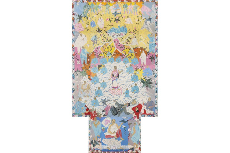 "Arpita Singh's mural ""Wish Dream"" was recently auctioned for $2,223,744. (Source: All Art News)"