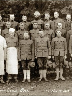 Bhagat Singh Thind as a member of Company #2 Development Battalion #1, 166th Depot Brigade, of Camp Lewis in Astoria, Oregon. (Source: bhagatsinghthind.com)