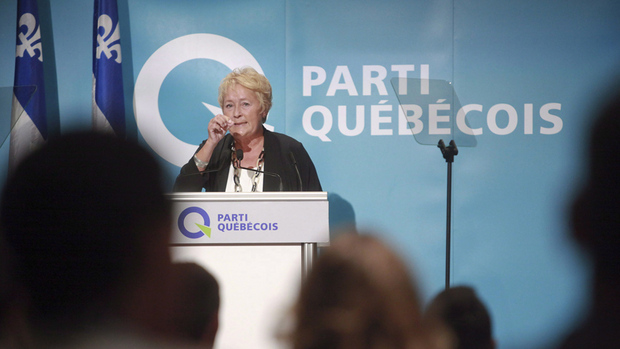 """The PQ and leader Pauline Marois have come under fire for the proposed charter of Quebec values."" (Francis Vachon/Canadian Press. Source: CBC News.)"
