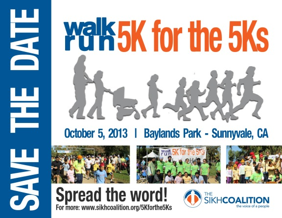Sikh Coalition's 5K for the 5Ks event. (Source: Sikh Coalition)