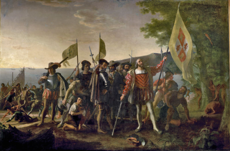 Landing of Columbus. (Source: Wikipedia)