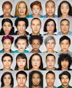 """Martin Schoeller's unexpected portraits illustrate America's 'melting pot' nature."" (Source: National Geographic)"