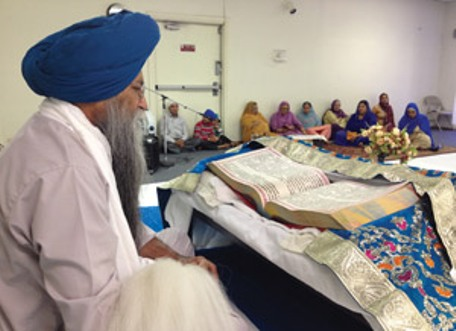 """""""Jasbir Singh oversees religious services at Dashmesh Darbar, Chico's first Sikh gurdwara, or temple."""" (Source: Ken Smith 