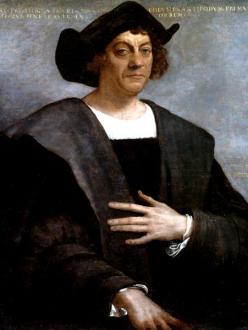 Depiction of Christopher Columbus.